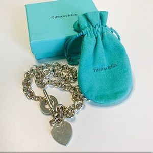 Authentic Tiffany & Co. Heart Toggle Necklace